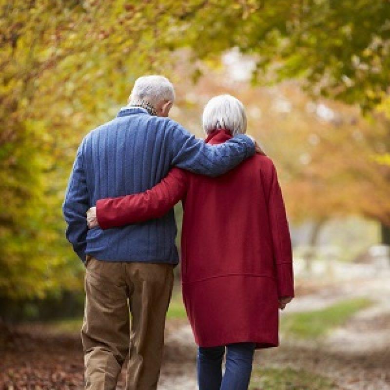 Senior echtpaar